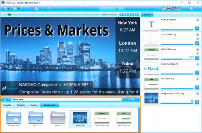 Интерфес Elementi Price&Markets