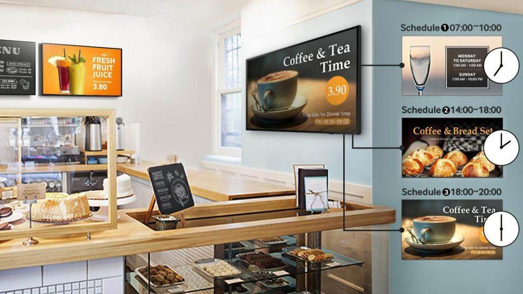 Профессиональная панель Samsung для кафе
