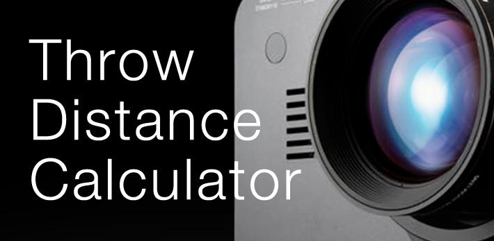 Калькулятор проекционного расстояния проекторов Panasonic