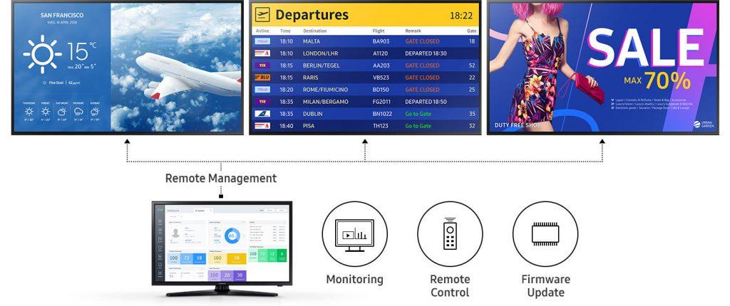 Дистанционное управление экранами