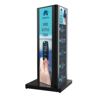 KIP588-3LG-EUK | Черная стойка для трех Ultra Stretch дисплеев LG