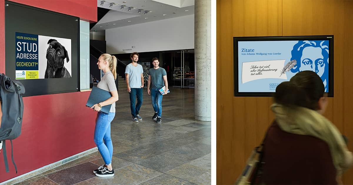 Информационные экраны в университете